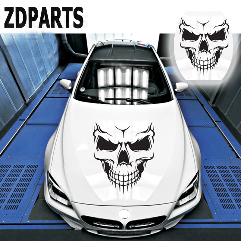 ZDPARTS 1X Skull Car Vent Hood Door Window Wheel Decals Sticker For Skoda Octavia A5 A7 2 Rapid Fabia Yeti Superb Volvo V70 XC60