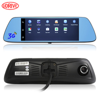 Udricare 7 inch Android GPS Navigation DVR Video Recorder HD 1080P Bluetooth Phone WiFi Dual Camera Rear View Mirror 16G DVR