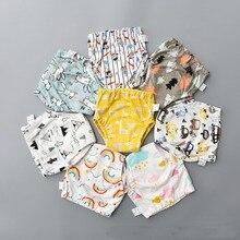 1 шт., хлопковые тренировочные штаны для детей, детские подгузники, многоразовые подгузники, моющиеся тканевые подгузники, подгузники, водонепроницаемое нижнее белье для малышей