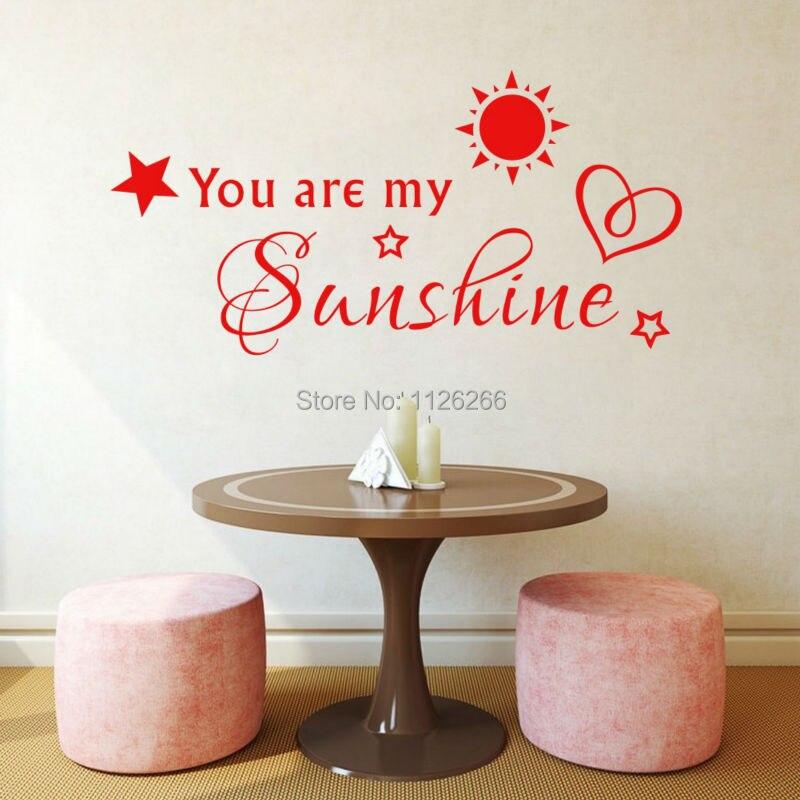 Popular Sunshine Wall DecalBuy Cheap Sunshine Wall Decal Lots - Wall decals you are my sunshine