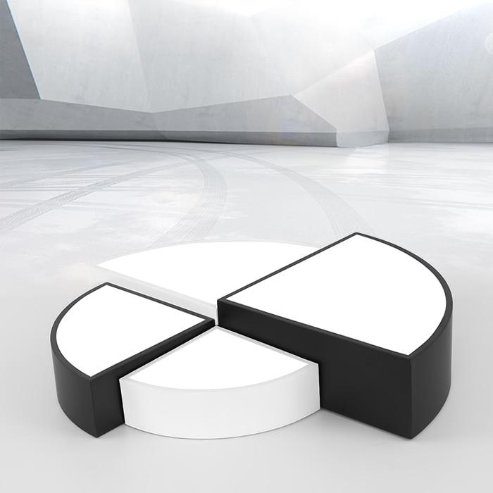 Plafonniers acryliques simples modernes de Led autour de la couleur blanche/noire pour l'appareil d'éclairage à la maison de chambre à coucher de salon