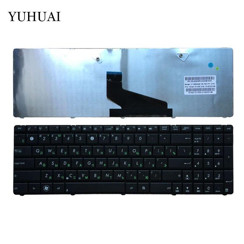 Russian Keyboard For ASUS K53U K53T X53U K53Z K53B K53BR X53BY K53TA K53TK K73BY K73T K73B K73TA X73B X73CBE K53BY K73Y RU Black