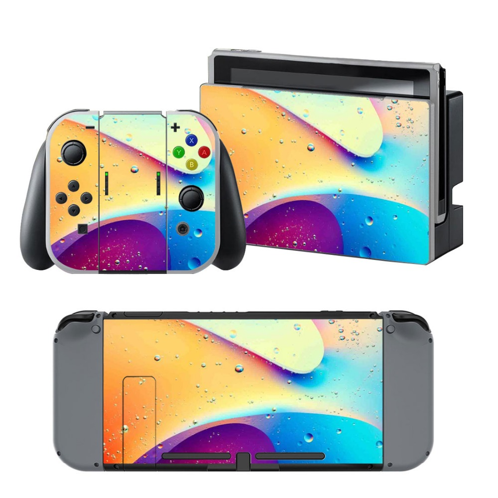 Rain Decal Skin Cover For Nintendo Switch NS Console For Nintendo Switch Skin Stickers+ Controller Protective
