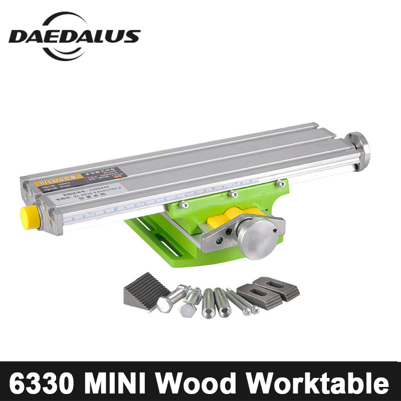 Bench Drill WorkTable Mini BG-6330 Multifunctional Vise X Y-axis Adjustment Coordinate Table For CNC Drilling Milling Machine цена