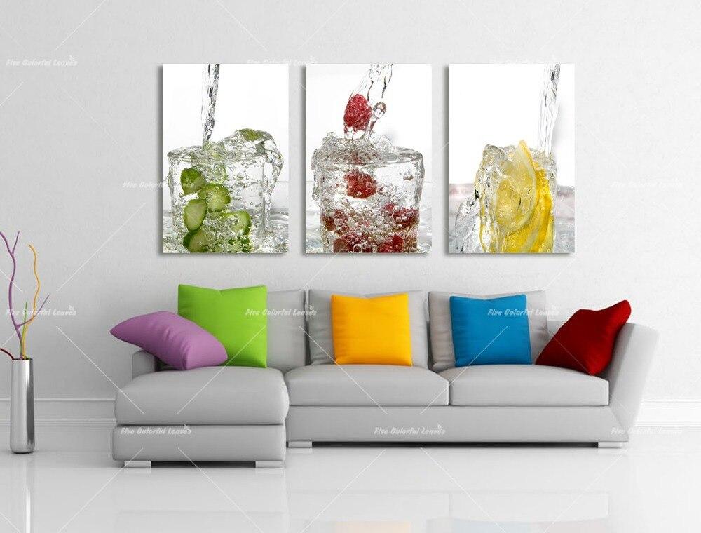 panel de la lona arte agua frutas cocina lona pintura grandes cuadros para pared de la sala pictures impresin en la lona wl en pintura y caligrafa