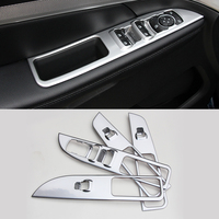 2016 ABS 4pcs Set Car Styling Interior Door Window Lift Switch Panel Cover Internal Decoration Cover