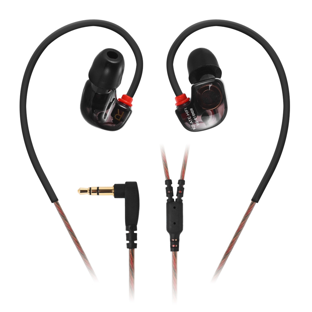 KZ ATE S ATE-S In Ear Earphones HIFI KZ ATE-S Stereo Sport Earhook Earphone Super Bass Noise Canceling Hifi Earbuds Foam Eartips