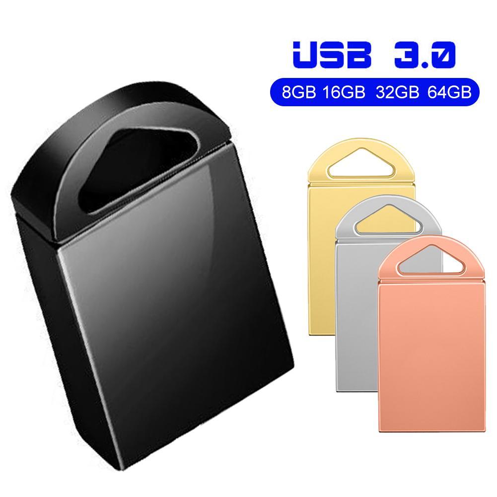 New 8/16/32/64GB High Speed USB 3.0 Flash Drive Metal Waterproof Data Storage U Disk