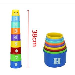 Image 5 - 8 Uds juguetes educativos para bebés 6 meses + figuras letras Foldind vaso apilable Tower niños inteligencia temprana