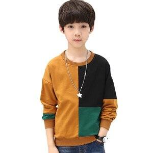 Image 4 - Teenager Jungen T Shirt 2019 Herbst Frühling Marke Kinder Voll Hemd Casual Langarm Sweatshirt Kinder Kleidung Bluse Tops H212