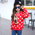 2017 new large children' s sweatshirts girl's warm jacket coat kids thicker coat autumn and winter 6-10 year