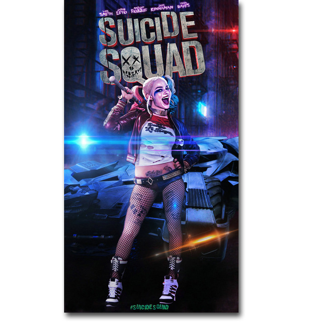Harley Quinn – Suicide Squad Superheroes Art Silk Fabric Poster Print 13×24 inch Movie Picture Wall Decor 012