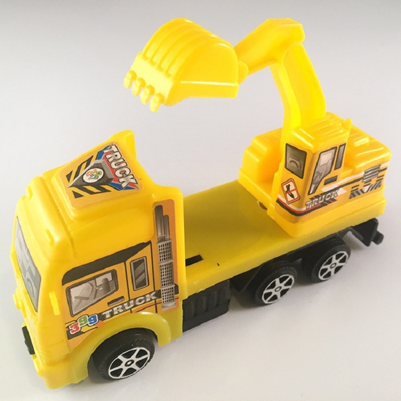 High 12cm Engineering Truck Car Muscle Car 1:60 Alloy Pull Back Toy For Boys Collection Model Birthday Gift Toy Store image