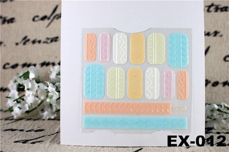 6 հատ / լոտ Decals 3D եղունգների պիտակ - Մանիկյուր - Լուսանկար 3