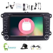 Android 6.0 Car Stereo Bluetotoh GPS dvd in Dash Vehilce Headunit for VW Volkswagen Jetta Hands Free Map Wireless Backup Camera