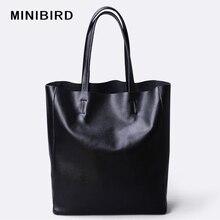 Bolsa de couro genuíno para mulheres, bolsa de ombro feminina impermeável de alta capacidade, bolsa casual com zíper