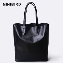 Bag Women Zipper-Handbag Genuine-Leather Totes High-Capacity Lady Casual Parent-Subsidiary