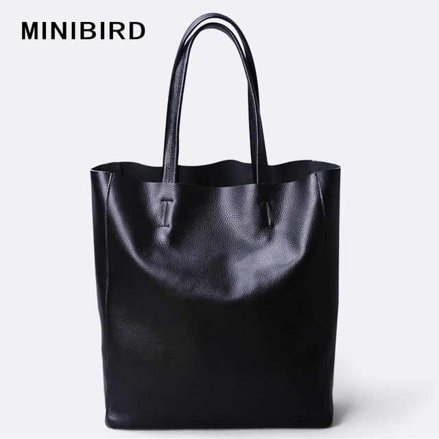Lady Simple Genuine Cow Skin Leather Shopping Bag Women High Capacity Waterproof Parent-subsidiary Casual Totes Zipper Handbag