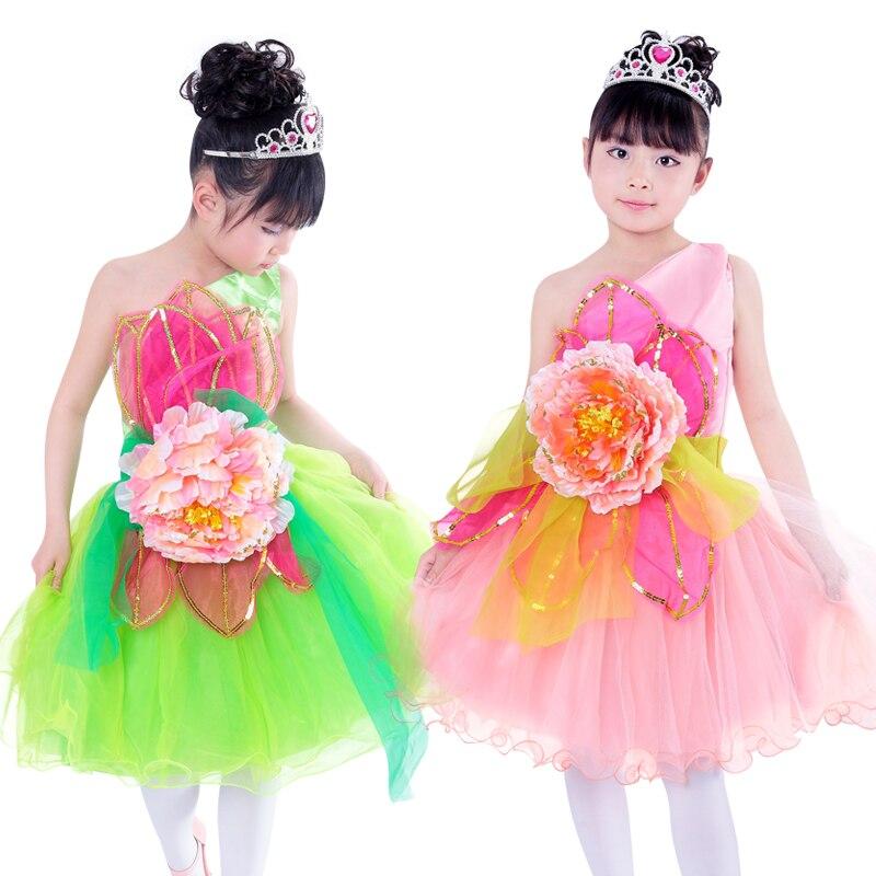 20ピース/ロット送料無料新しい子供社交競争標準ダンスdress衣装子供女の子夏ドレスで花