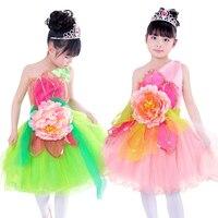 20 cái/lốc miễn phí vận chuyển new kids cạnh tranh ballroom tiêu chuẩn khiêu vũ dress trang phục trẻ em gái mùa hè dresses với flowers