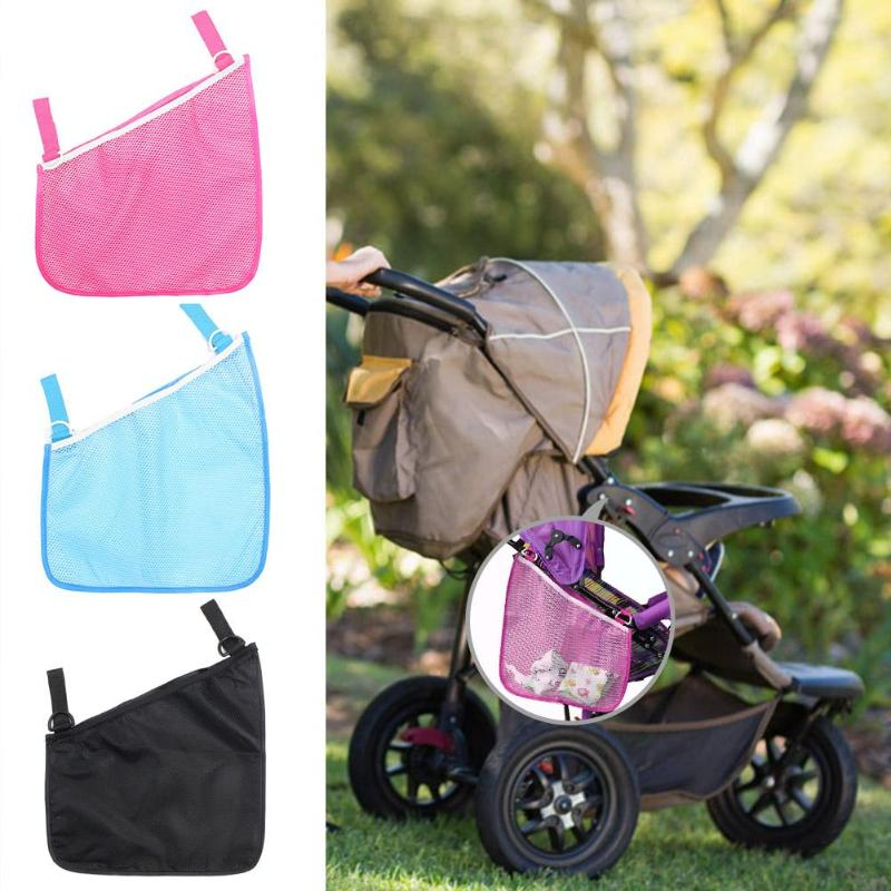 Baby Infant Pram Stroller Accessories Mesh Side Hanging Bag Storage Net Bag(China)
