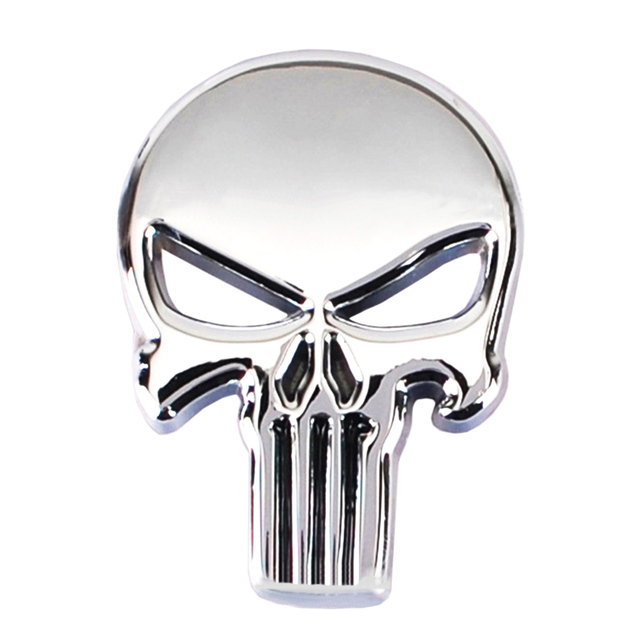 3D Skull Metal Skeleton Car Motorcycle Sticker Label Skull Emblem Badge Motorcycle Car Styling Stickers Decal Accessories