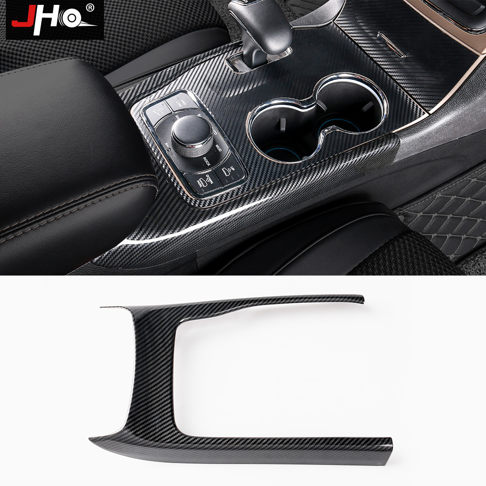 JHO Gear Shifter Panel Cover Trim For Jeep Grand Cherokee 2014 2018 2015 2016 17 ABS