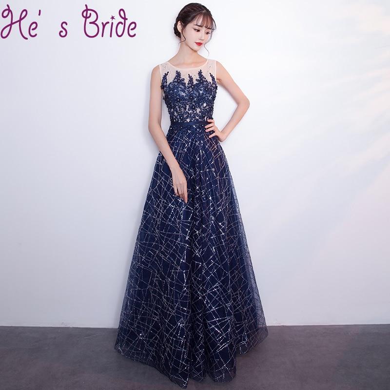 Simple Elegant Tulle A Line Scoop Neck Cap Sleeves Lace: Evening Dress Elegant Dark Blue Sheer Scoop Neck