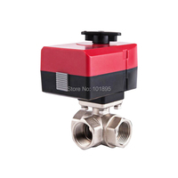 Brass Material 3/4 to 5/4 Size of 3 Way Electric Valve