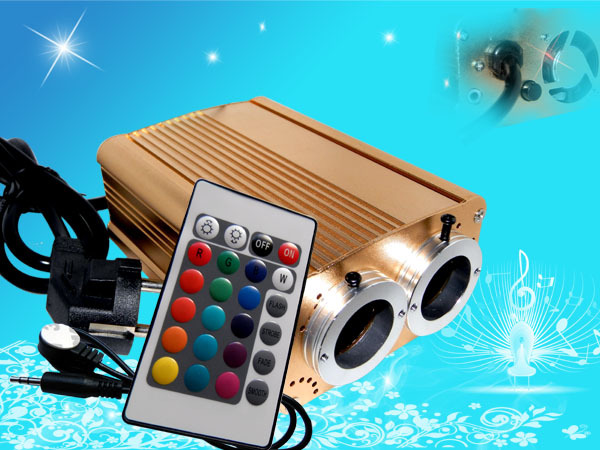 32W Two Ports LED Fiber Optic light Engine Driver Light Source  with IR or RF  remote controller  For Fiber Lighting32W Two Ports LED Fiber Optic light Engine Driver Light Source  with IR or RF  remote controller  For Fiber Lighting