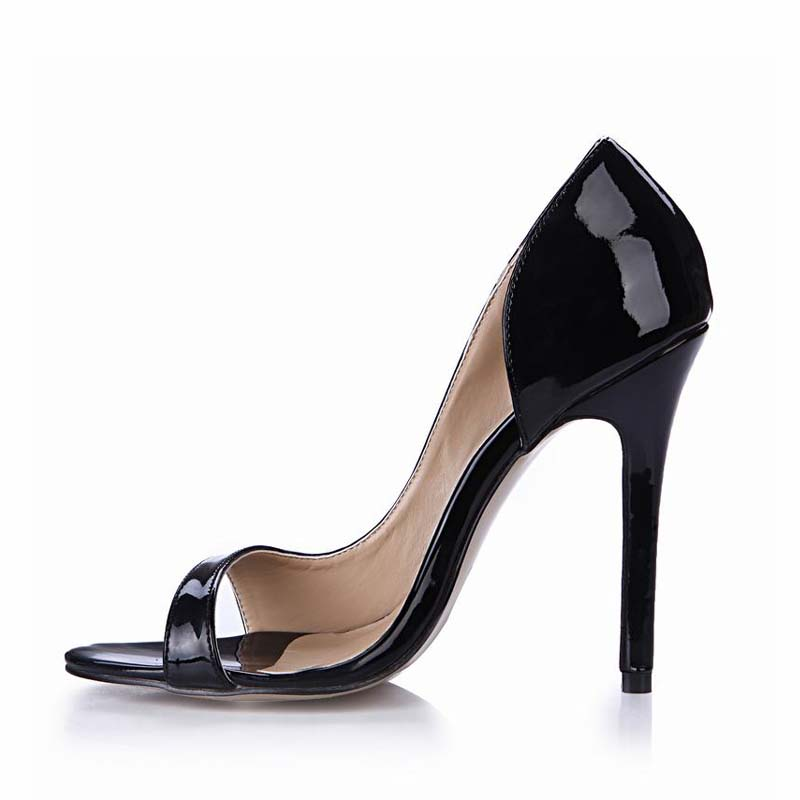 New Sexy High Heels Women Pumps Shoes Woman Peep Toe Side Empty Ladies Party Valentine Shoes Zapatos Mujer Tacon Sapato Feminino cdts 35 45 46 summer zapatos mujer peep toe sandals 15cm thin high heels flowers crystal platform sexy woman shoes wedding pumps