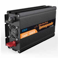 EDECOA off grid converter DC 24V to AC 220V 2500W 5000w pure sine wave power inverter free shipping