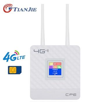 لاسلكي CPE 4G موزع إنترنت واي فاي المحمولة بوابة FDD TDD LTE WCDMA GSM العالمي إفتح الهوائيات الخارجية سيم فتحة للبطاقات WAN/LAN ميناء