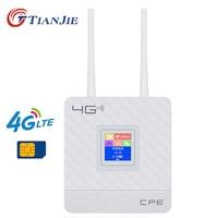 Wireless CPE 4G Wifi Router Portable Gateway FDD TDD LTE WCDMA GSM Global Unlock External Antennas SIM Card Slot WAN/LAN Port