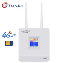 Wireless CPE Router WiFi 4G Portable Gateway FDD TDD LTE WCDMA GSM Global Membuka Antena Eksternal Slot Kartu SIM wan/LAN Port(China)
