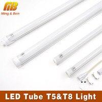 LED Tube T5 T8 Light 110V 220V 85 265V 30cm 60cm 5W 10W LED Fluorescent Tube