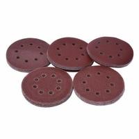 Practical 50pcs Lot 5 Inch Sanding Discs 40 60 80 120 240 Grit Sandpaper Discs Grinding