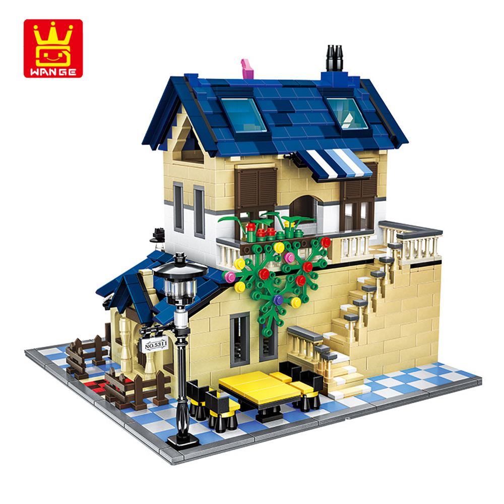 WANGE French Country Lodge 1298pcs Bricks DIY Building Blocks Compatible with Legoed Assemble Educational Toys for Kids Gifts