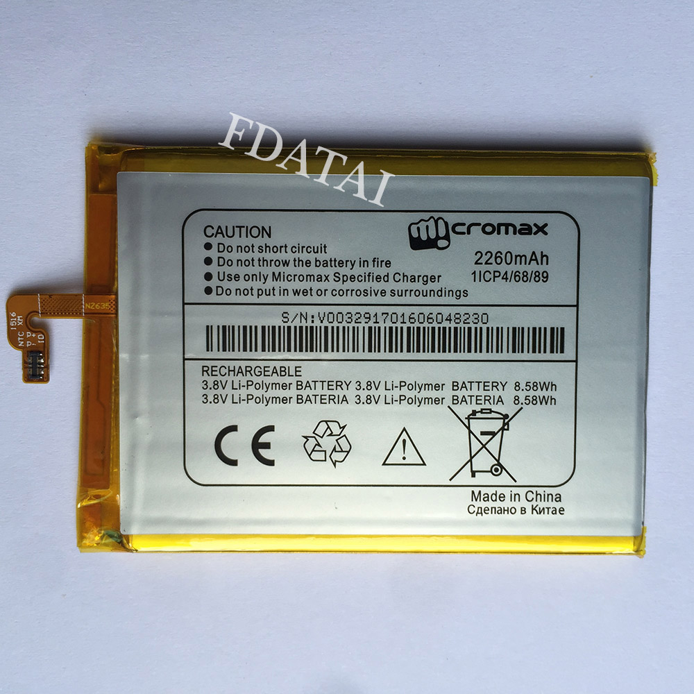 Sale High Quality 2260mah Replacement Mobile Phone Battery Batteries Repair Short Circuit For Micromax Cp4 Accumulator Part Image