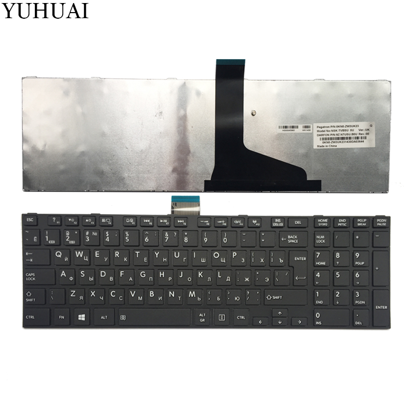 NEW Russian laptop Keyboard for TOSHIBA SATELLITE L850 L850D P850 L855 L855D L870 L870D RU Black keyboard цена