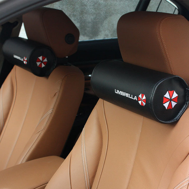 Fashion Skull Umbrella Style Car Pillowneck Protectorcar Styling Leather Seat Covers For
