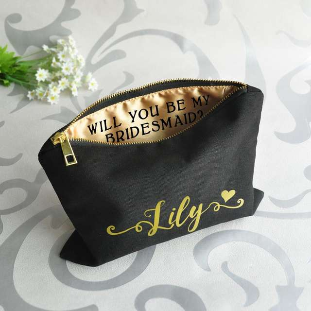 Personalized Makeup Bag for Bachelorette Party