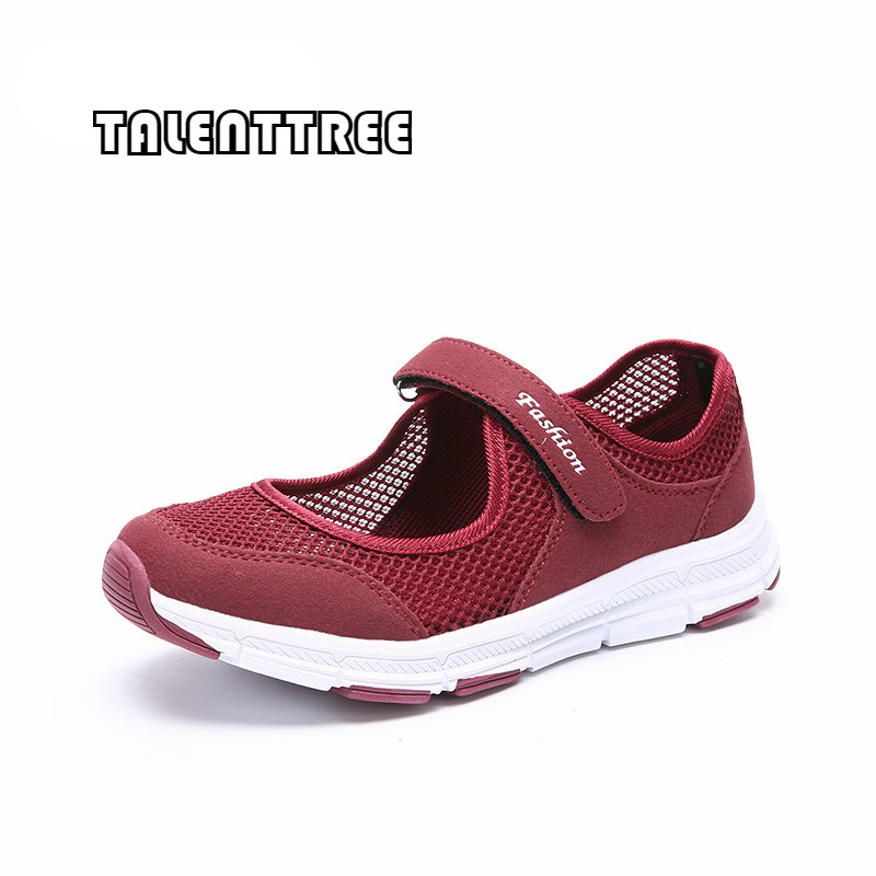 Shoes Woman 2018 New Spring Summer Air Mesh Casual Shoes For Women Flat Soft Bottom Sneakers Breathable Mesh Shoes Women Tenis