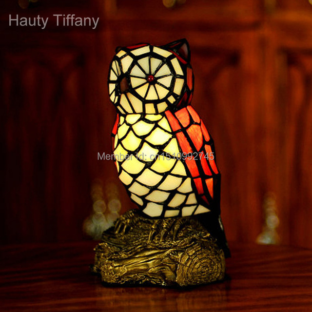 Antique tiffany glass lamp owl table lamp night light novelty antique tiffany glass lamp owl table lamp night light novelty animal crafts unique home decor lighting mozeypictures Gallery