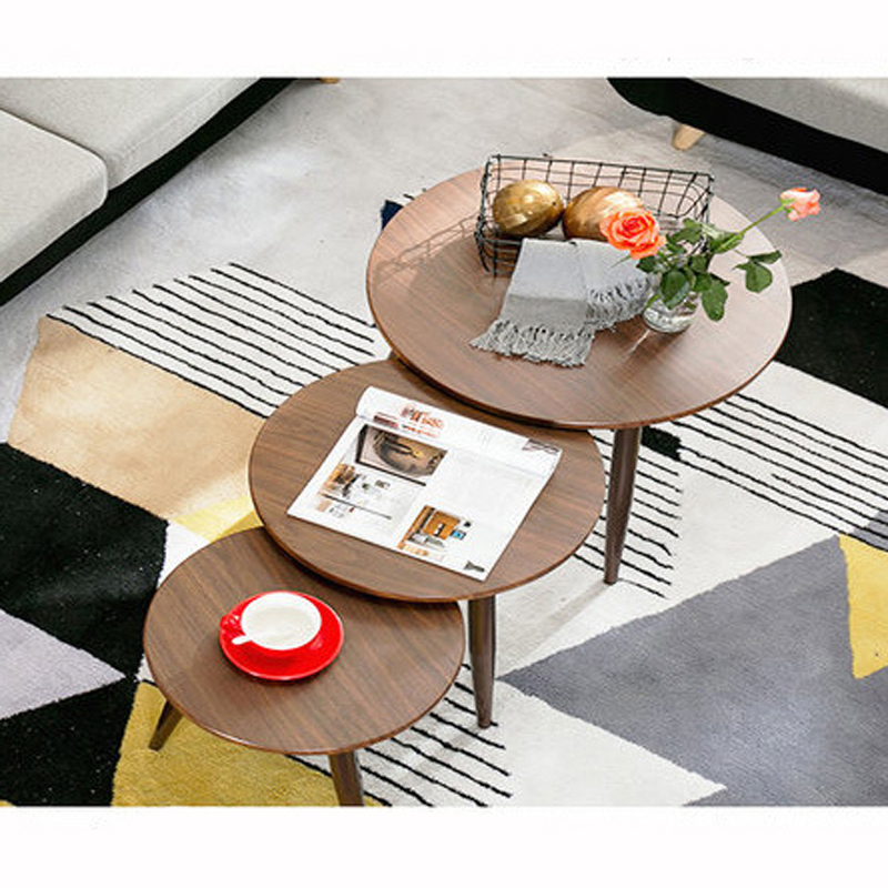 Nordic Wrought Iron Coffee Table Simple Living Room Mini Small Round Table Small Apartment Balcony Sofa Feet a Few creative apartment living room coffee table round table simple modern small coffee table corner table