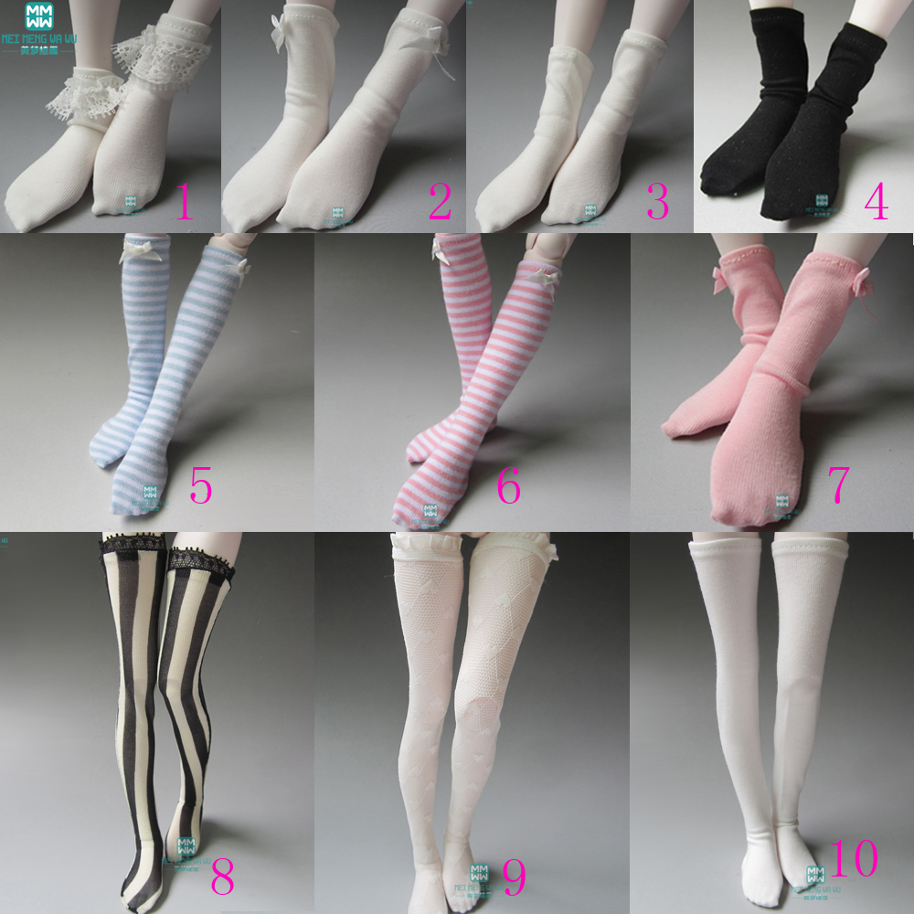 Fits1/3 1/4 1/6 DD SD MSD YOSD BJD Doll Fashion Fine Socks Doll Accessories