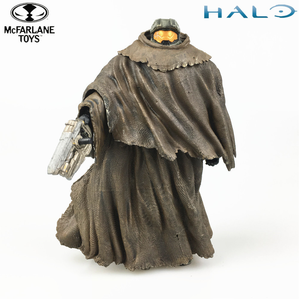 Halo Master Chief with Cloak 5 Action Figure Original Mcfarlane Toys Figuras Doll Model 2014 Collectible LooseHalo Master Chief with Cloak 5 Action Figure Original Mcfarlane Toys Figuras Doll Model 2014 Collectible Loose