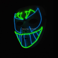 High grade Trendy Sound Activated Mask LED Neon Glowing Party Halloween Supplies Night bat face Mask