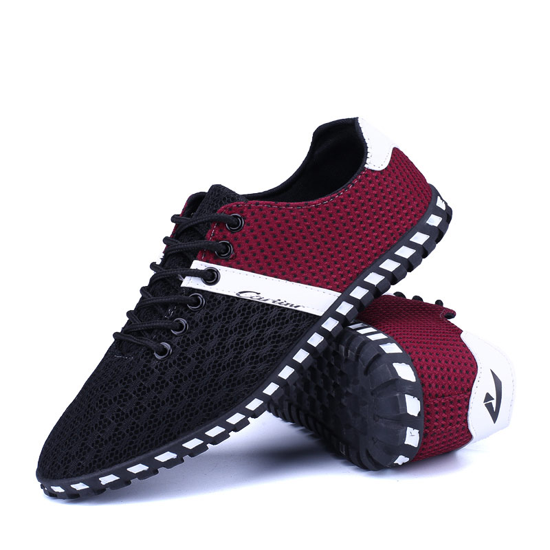 Summer Breathable Mesh Shoes Mens Kasut Kasual 2018 New Lace-up - Kasut lelaki