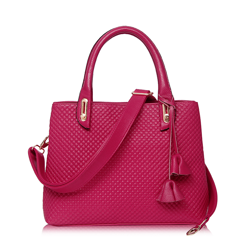 2017 Women Messenger Bag Vintage Pu Leather Bag Ladies Women Leather Handbags High Quality Shoulder Bag ST9226  Hot Pink
